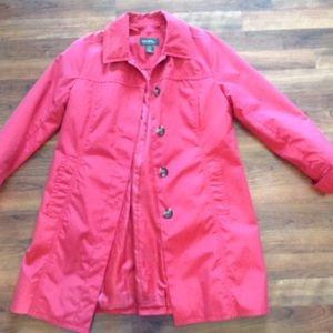 Eddie Bauer Red Rain Coat